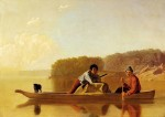 George Caleb Bingham - The Trappers' Return