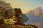 George Caleb Bingham a view of a lake in the mountains