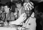 Joe Frazier with hat