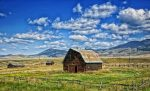 Montana Barn Landscape Scenic Hdr Sky Clouds