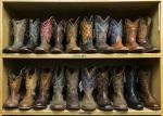 Cowboy Boots Shelves Styles Shoe Boot Store