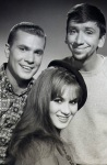 Dwayne Hickman, Bob Denver, and Danielle De Metz from the television show The Many Loves of Dobie Gillis