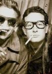 Waylon Jennings and Buddy Holly in 1959