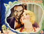 Lobby card for the 1928 film The Haunted House