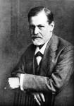 Sigmund Freud, half-length portrait,