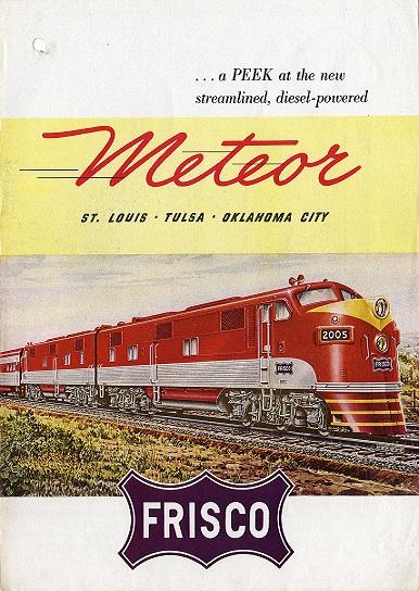 Frisco Meteor Railroad 2x3 Fridge Magnet